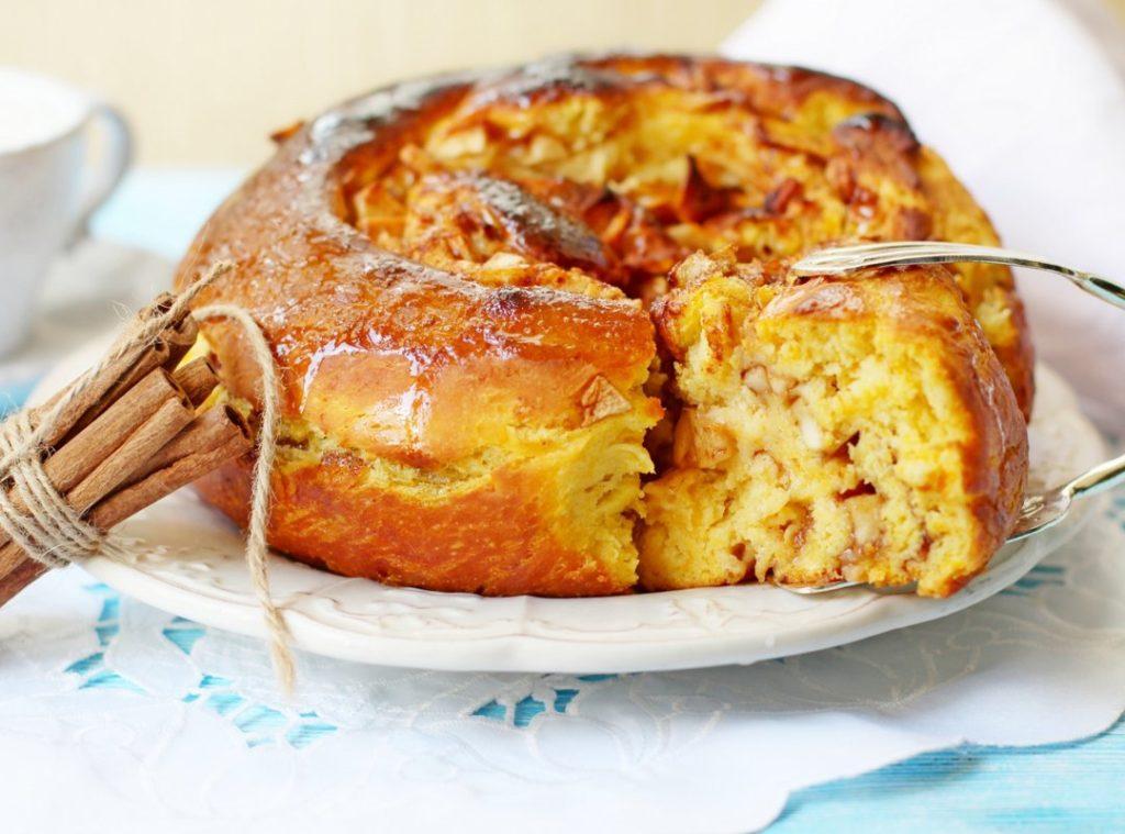 Тыквенно-яблочный пирог-суфле