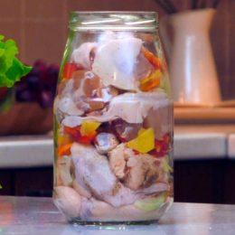 Курица с овощами, запеченная в банке: суперский рецепт