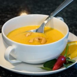 Огненный имбирно-тыквенный суп