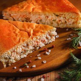 Пирог с неркой и рисом