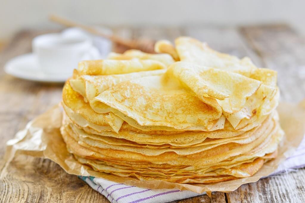 Рецепт блинов без яиц на молоке
